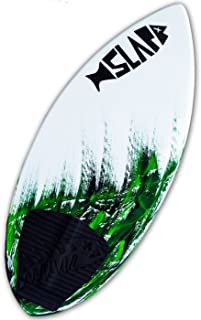 Slapfish Skimboards - Green Fiberglass & Carbon with Traction Deck Grip - 4 Sizes - Kids & Adults - Beginner to Advanced - No Weight Limit Option