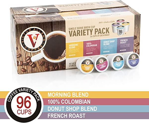 Donut Shop Morning Blend 100 Colombian And French Roast Variety Pack For K Cup Keurig 2 0 Brewers 96 Count Victor Allen S Coffee Single Serve Coffee Pods