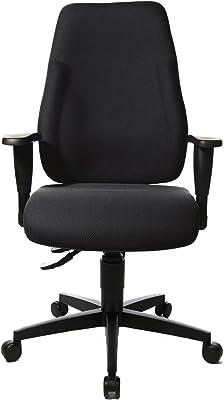 Topstar LT0BK BC0 Lady Sitness - Silla giratoria de Oficina con reposabrazos Regulables, Color Negro