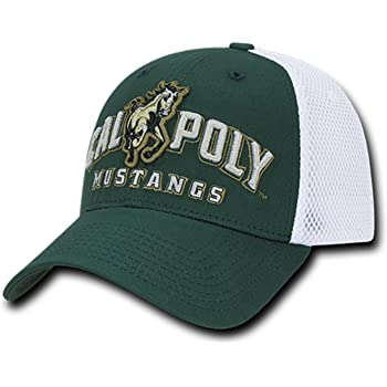 University of Cal State Poly Mustangs Polo Relaxed Trucker Mesh Baseball Ball Cap Hat