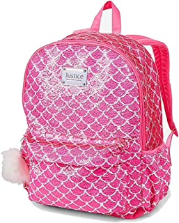 Flip Sequin Backpack Mermaid Pretty Pink Poly