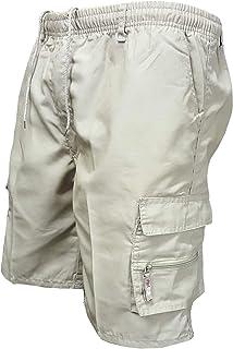 Zimaes Men's Outdoor Pocket Cotton Baggy Summer Beach Cargo Pant