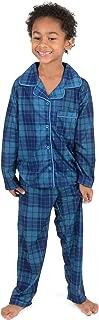 Kids Button Down Pajamas Boys & Girls 2 Piece Christmas Pajama Set (Size 2-14 Years)