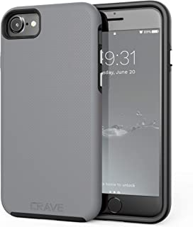 iPhone 8 Case, iPhone 7 Case, Crave Dual Guard Protection Series Case for Apple iPhone 8/7 (4.7 Inch) - Black Gray CRVGGi7102