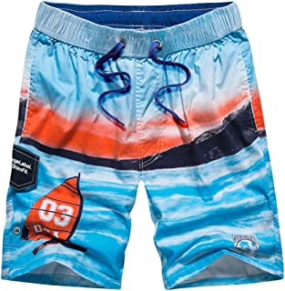 3017f4f13d0 Jiayit Men's Holiday Beach Style Men Hawaiian Swim Trunks Quick Dry Beach  Surfing Running Swimming Watershort