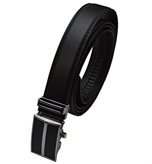 Gürtel Design Automatik Schließe 3,4 cm Breit Längen wählbar schwarz