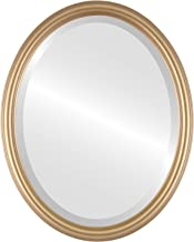 Oval Beveled Wall Mirror for Home Decor - Saratoga Style - Desert Gold - 22x26 outside dimensions