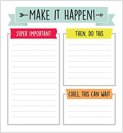 """Carson Dellosa Aim High To Do List Notepad—5.75"""" x 6.25"""" Paper Stationery, Daily Checklist, Goals, Reminders, Notes, Motivational Organizer (50 sheets)"""