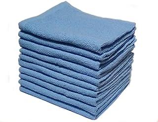 《 まとめ買いセット 》フェイスタオル10枚組 ブルー 84cm×34cm 速乾薄手タイプ BL10