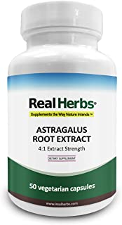 Real Herbs Astragalus Root Extract - Derived from 2800mg of Astragalus Root with 4:1 Extract Strength - Promotes Cardiovas...