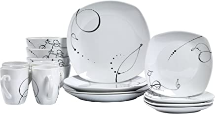 Pescara - 16 Piece Square Dinnerware Service for 4