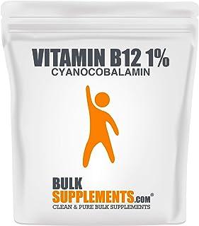 Sponsored Ad - BulkSupplements Vitamin B12 1% (Cyanocobalamin) Powder (100 Grams)