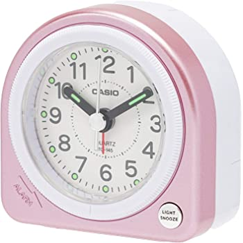 CASIO(カシオ) 目覚まし時計 ピンク 6.2×6.1cm アナログ ミニサイズ ライト 付き TQ-145-4BJF