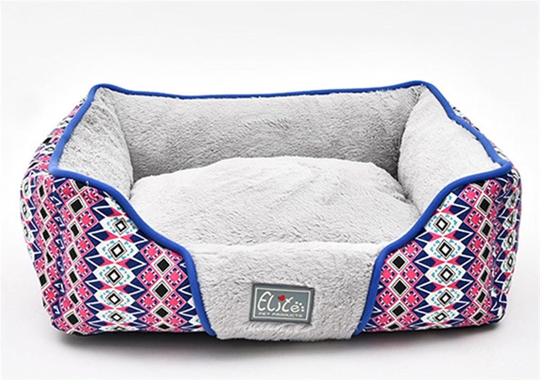 CHWWO Four Seasons Universal Square Kenkel Dog pad Wasable Nonslip Dog Bed con Reversable Cushion Comfortable Sleep 61_52_18cm, grigio