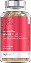 Raspberry Ketone Plus- 1000mg Max Strength Fast Fat Burner Tablets Natural Slimming Weight Management Diet Vegan Vegetarian Pure Fruit Supplement Capsules for Health Nutrition- by WeightWorld Estimated Price : £ 14,99