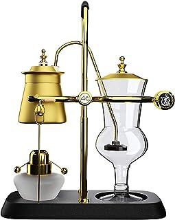 BNMY Juego De Cafetera De Sifón Cafetera Royal Belgian Coffee Maker Caja De Regalo, 5 Tazas,Negro