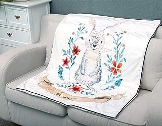 Little Jump Baby Rabbit Print Soft Sherpa Blanket, 40