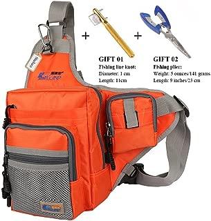 Anglerbasics Shoulder Bag Fishing Tackle Bag Chest Bag Crossbody Messenger Sling Bags Outdoor Sports Hiking Travel