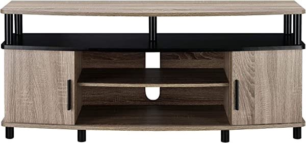 Ameriwood Home Carson TV Stand For 50 Inch TVs Sonoma Oak Renewed