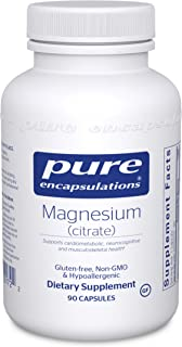 Pure Encapsulations - Magnesium (Citrate) - Hypoallergenic Supplement Supports Nutrient Utilization and Physiological Functions* - 90 Capsules