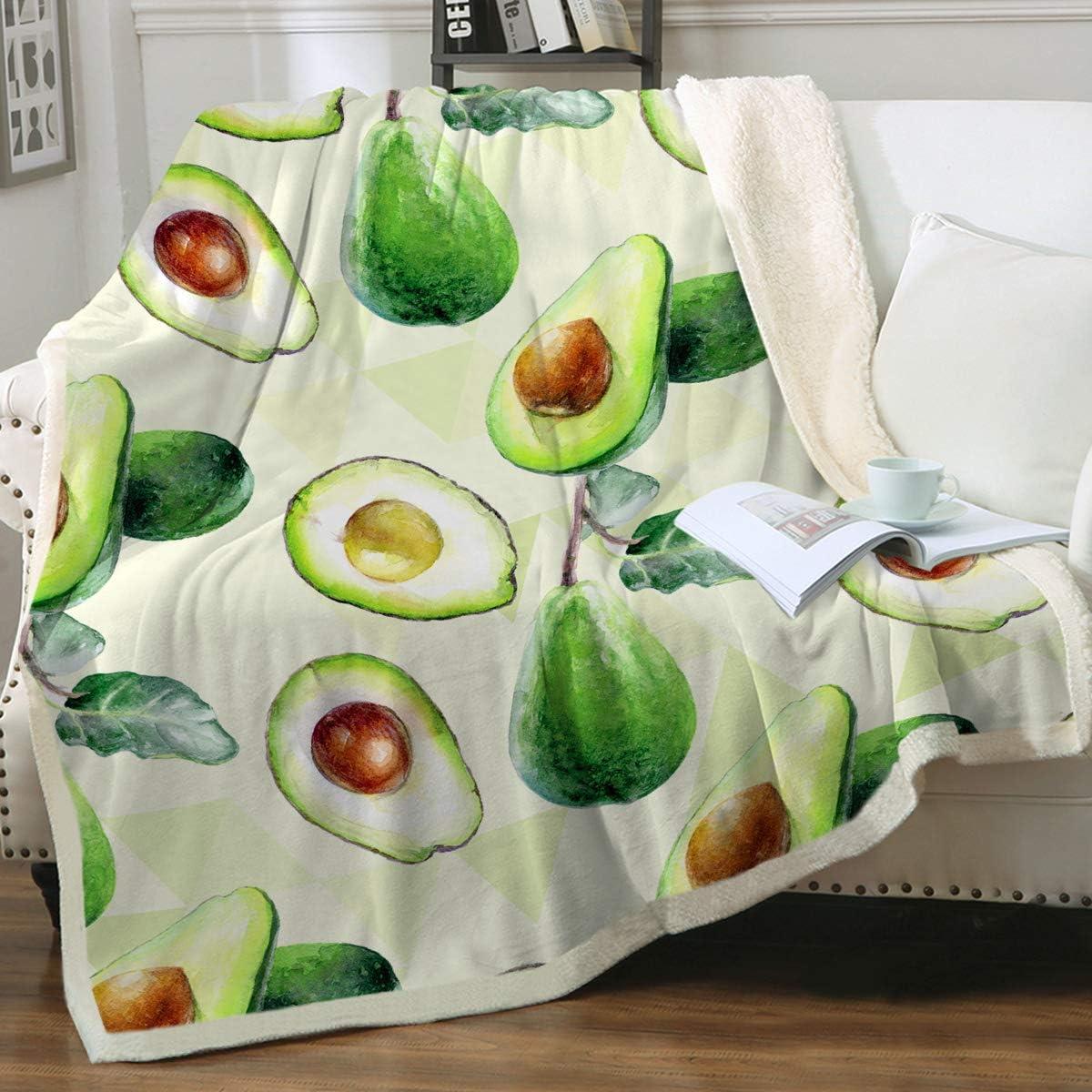 Sleepwish Sherpa Fleece Blanket Fruit Cute Print Avocado Mail Sales of SALE items from new works order