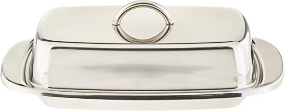 Norpro Stainless Steel Double Covered Butter Dish, Silver (282)