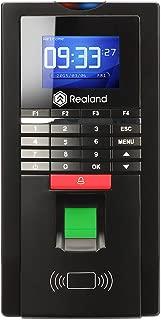 Fingerprint Time Clock, Realand Biometric Access Control RFID Attendance Reader Card Password for Employee Black