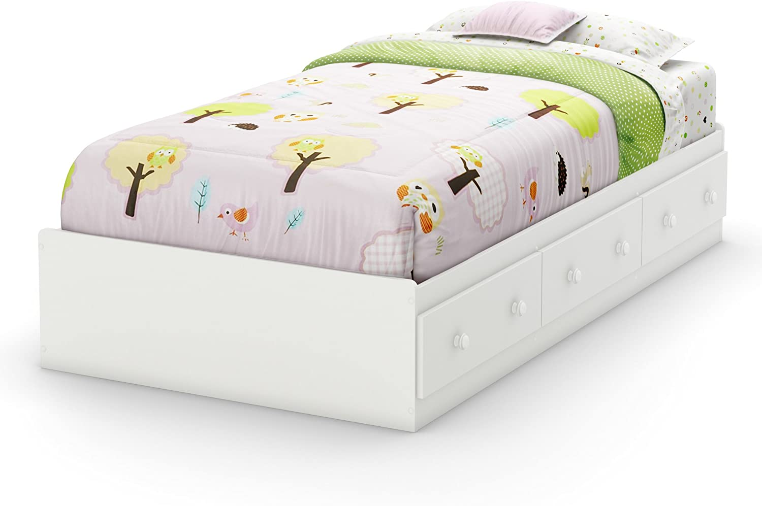 South Shore Furniture Savannah Collection, Twin Bed, Pure White