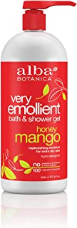 Alba Botanica Very Emollient Honey Mango Bath & Shower Gel, 32 oz.