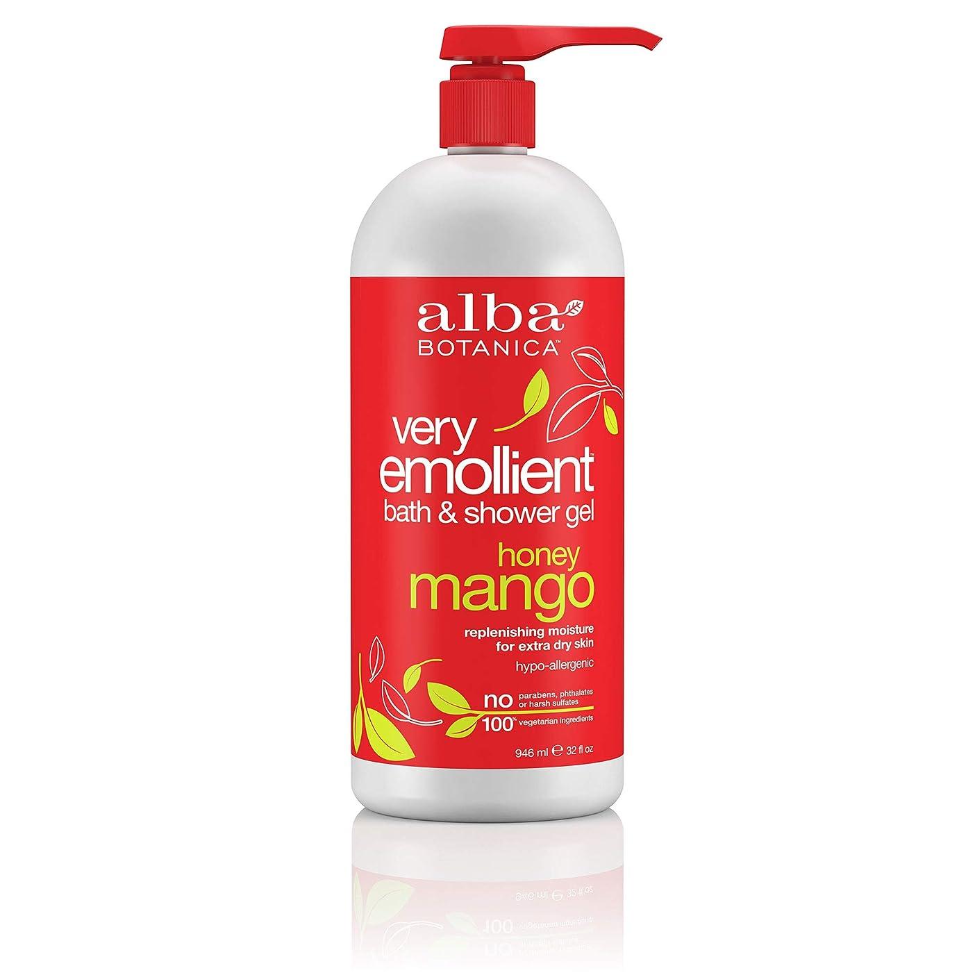 川レンダー抵抗Alba Botanica, Natural Very Emollient Bath & Shower Gel, Honey Mango, 32 fl oz (946 ml)