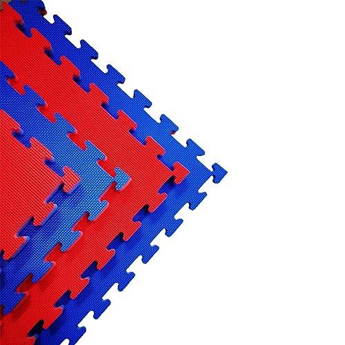 Sampada Synthetics EVA Foam Interlocking Tiles Floor Mats for Gym Equipment (Blue, 53x53x2.5cm) - Pack of 4