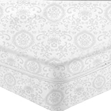 CARILLO Fodera Coprimaterasso in Cotone damasco con cerniera - dimensioni varie S514 Matrimoniale