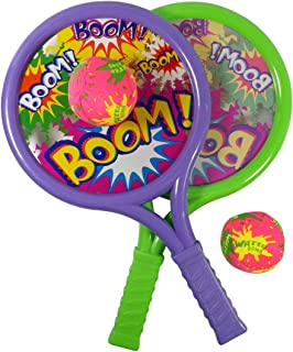 Liberty Imports Boom Drum Tennis Racket Sports Toy Set for Kids | Includes 2 Rackets and