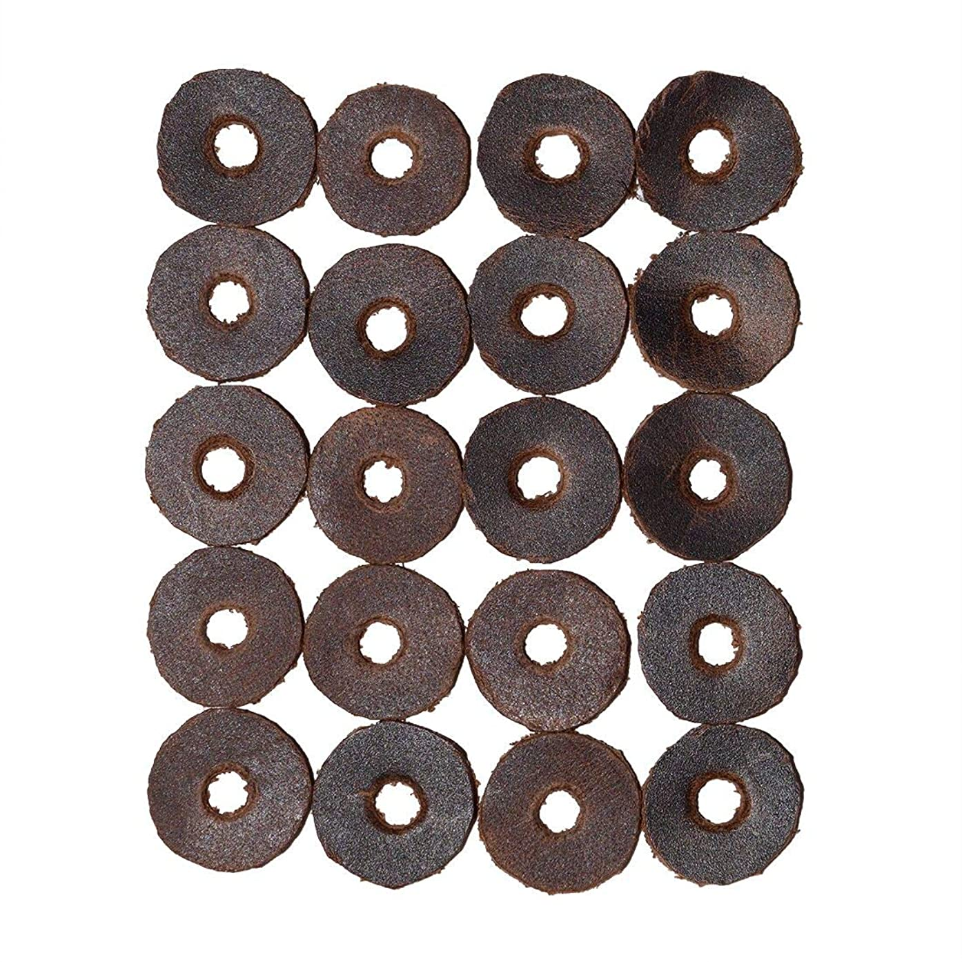 Hide & Drink, Leather Cushion Washers (6/8 in.) Diameter, 1.8mm (Set of 20) for Mounting Bicycle Fenders & Racks/Protects New Paint/Furniture, Handmade Includes 101 Year Warranty :: Bourbon Brown