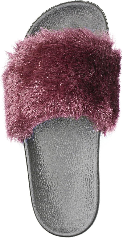 Adorllya Womens Slippers, Cute Fuzzy FILP Flops Slides Comfortable Fur Slippers for Women