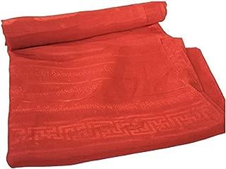 High Quality Tibetan Prayer Scarf Kata Red Color 8 Auspicious Symbols Ps-15