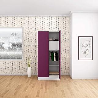 GODREJ INTERIO Slimline Steel Wardrobe Purple,2 Door
