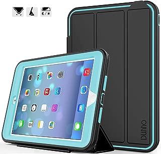 iPad mini case iPad mini 2 case iPad mini 3 case DUNNO Heavy Duty Full Body Rugged Protective Case Whit Auto Sleep/Wake Up Stand Folio & Three Layer Design for Apple iPad mini 1/2/3 (Black/Light Blue)
