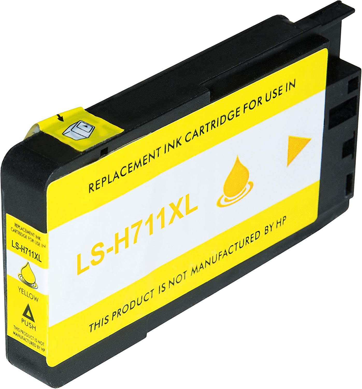 Logic Seek Tintenpatrone Kompatibel Mit Hp 711xl Cz132a Designjet T120 Designjet T520 Yellow 29 Ml Bürobedarf Schreibwaren