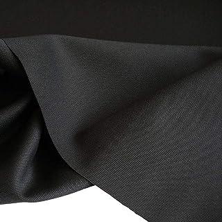 TOLKO Baumwollstoffe | Canvas Segeltuch Stoff als Bezugstoff/Möbelstoff und Modestoff zum Nähen Polstern Beziehen | Mittelschwer, Stabil, Reißfest | Polsterbezug Meterware 153cm breit Schwarz