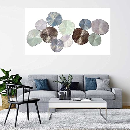 Exotic Creations Circular Plates Metal Wall Decor Hanging Wall Arts for Living Room Decoration   Dimensions:48 * 25 * 2 INCH