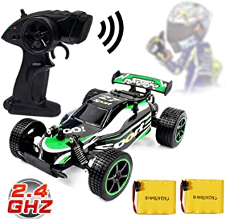 Blexy RC Racing Cars 2.4Ghz High Speed Vehicle 1:20 2WD Radio Remote Control Racing Toy Cars Electric Fast Race Buggy Hobby Car for Kids Gift Green