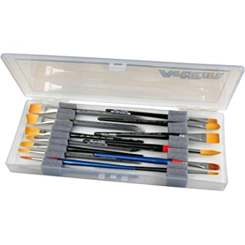 ArtBin KW903 Box with Foam Inserts Fine Art Portable Paint Brush Organizer Clear, standart