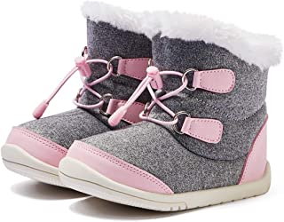 BMCiTYBM Toddler Winter Snow Boots Kids Boys Girls Waterproof Outdoor Warm Faux Fur