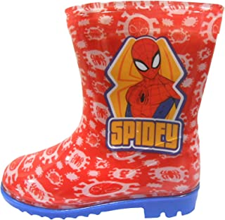 Spiderman Boys Wellington Rain Boots Wellys