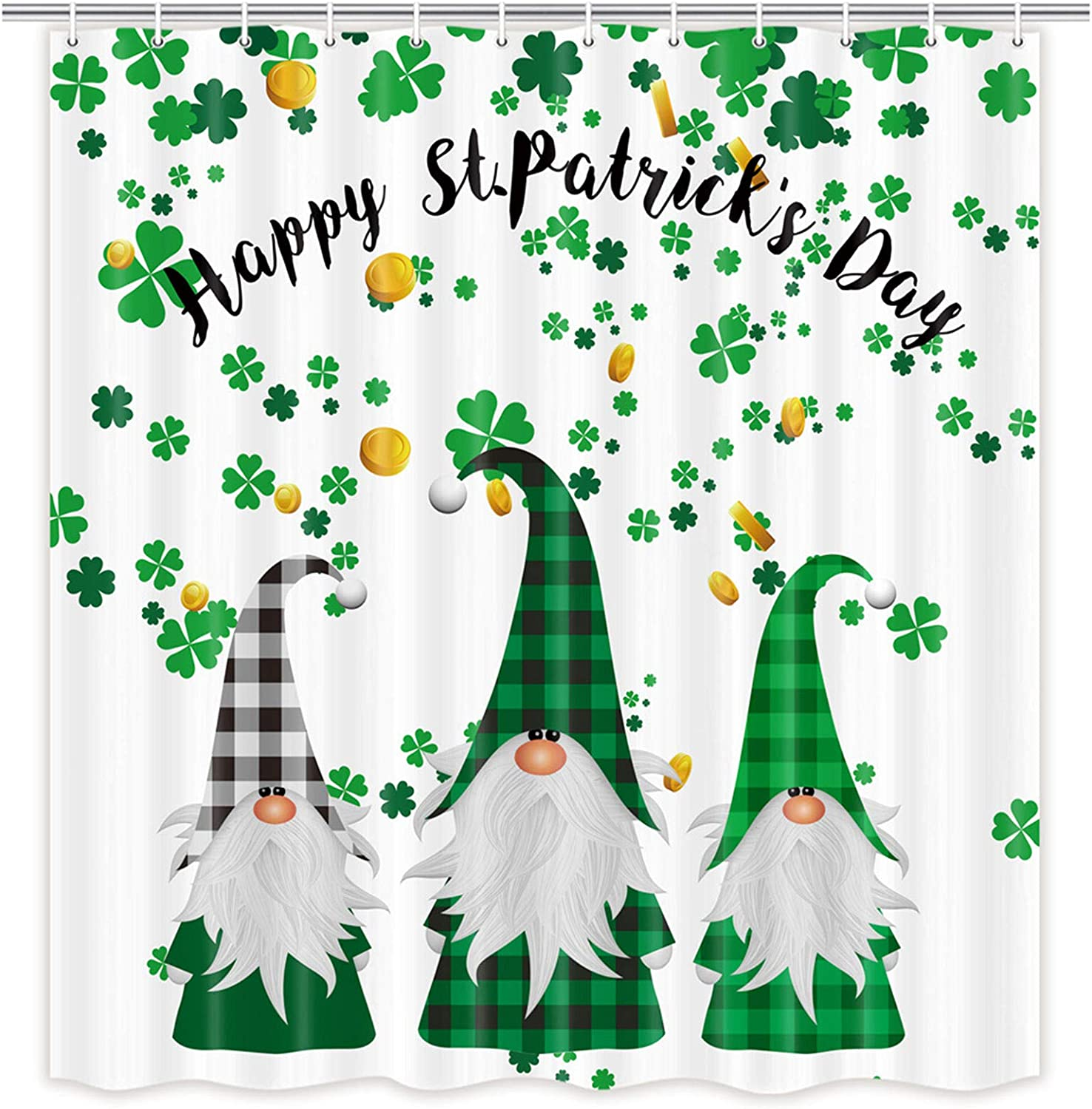 Ranking TOP19 MERCHR Happy Free shipping St. Patrick's Day Sham Clover Green Curtain Shower