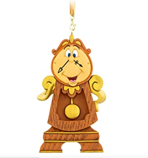 Disney Parks Cogsworth Clock Beauty and the Beast Figurine Ornament Christmas
