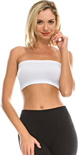 Seamless Bandeau Tube top - UV Protective Fabric, Rated UPF 50+ (Non-Padded) -Made in USA-