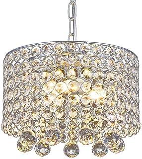 Lustre en cristal moderne, Plafonnier encastré à 3 lumières Diamètre de 9,8 pouces pour couloir, salle à manger, chambre à...