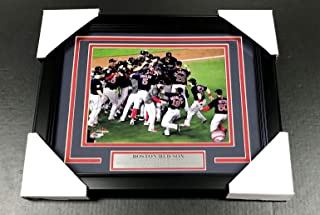 2018 BOSTON RED SOX WORLD SERIES CHAMPIONS TEAM FRAMED PHOTO #1 8X10 CELEBRATION
